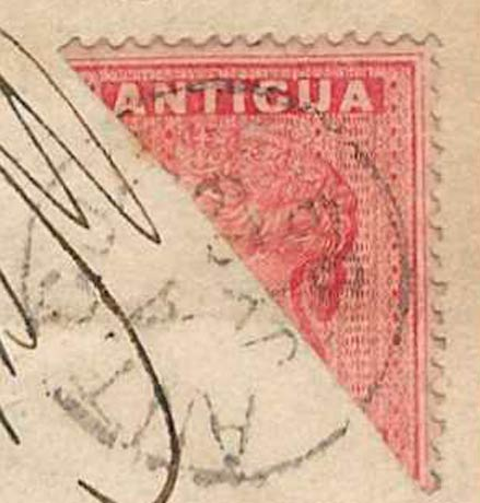Antigua_1863_QV_1p_Bisect_Forgery1