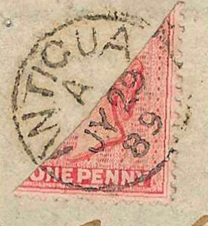 Antigua_1863_QV_1p_Bisect_Forgery2