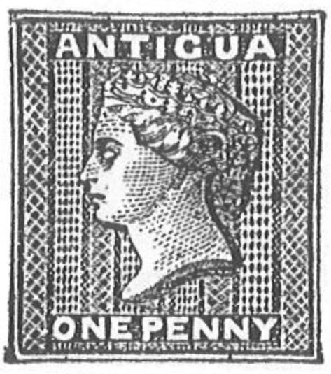 Antigua_1863_QV_1p_Torres_illustration