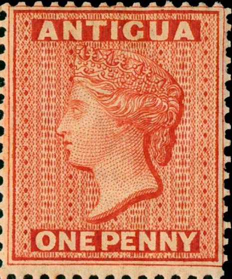 Antigua_1872_QV_1p_Genuine