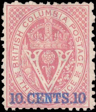 British_Columbia_1869_10c_Genuine