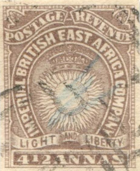 British_East_Africa_1890_4.5a_Forgery