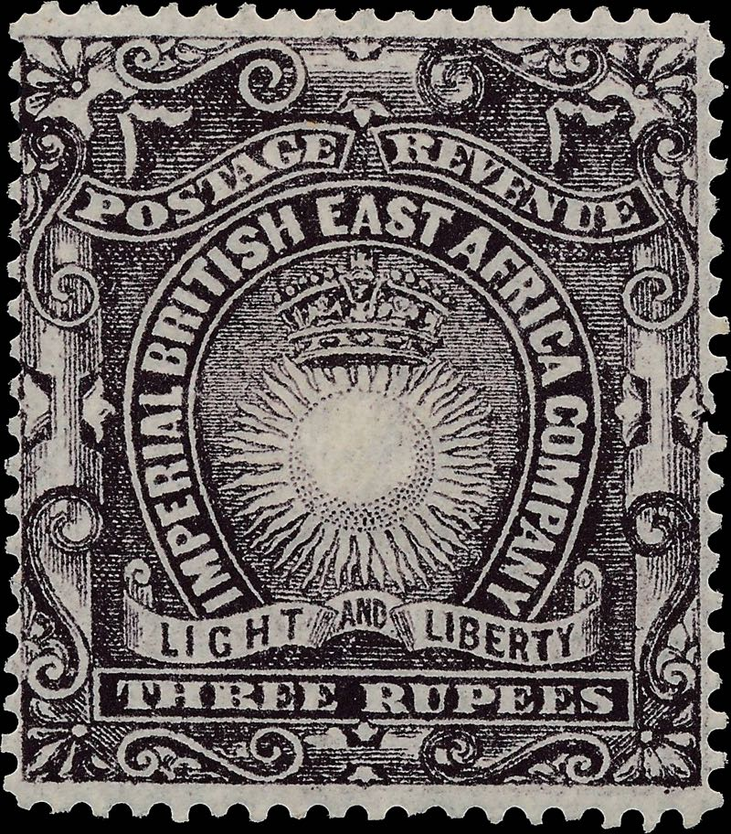 British_East_Africa_1895_3r_Forgery