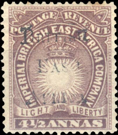 British_East_Africa_1895_4.5a_Forgery2