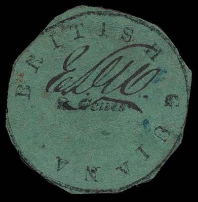 British_Guiana_1850_8c_Genuine