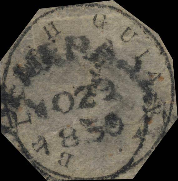 British_Guiana_1851_4c_Genuine