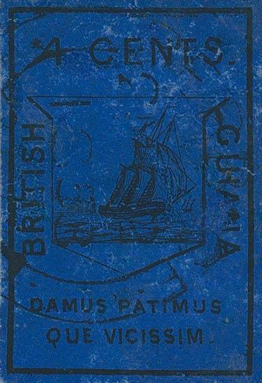 British_Guiana_1852_4c_Genuine