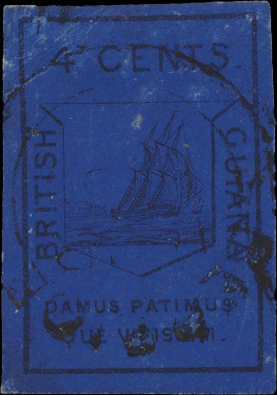 British_Guiana_1852_4c_Genuine2