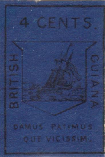 British_Guiana_1852_4c_Winter_Forgery