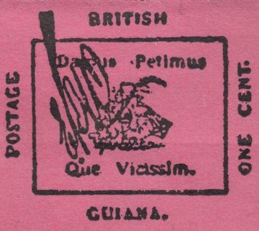 British_Guiana_1856_1c_Forgery