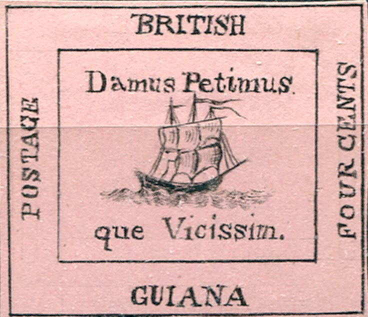 British_Guiana_1856_4c_pink_Forgery