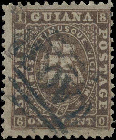 British_Guiana_1860_1c_Genuine