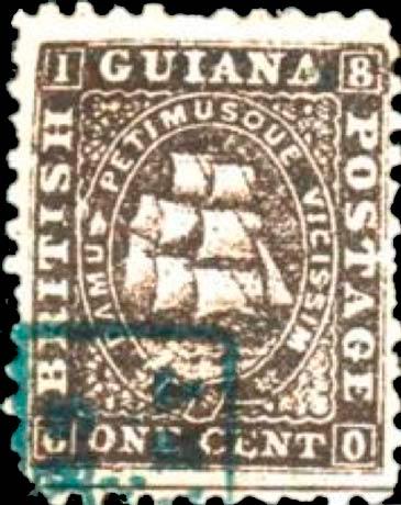 British_Guiana_1860_1c_Spiro_Forgery