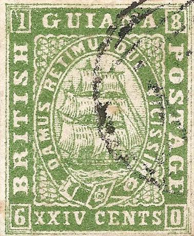 British_Guiana_1860_24c_Forgery