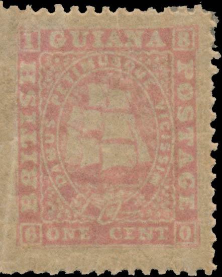 British_Guiana_1860_Ship_1c_1865_Reprint