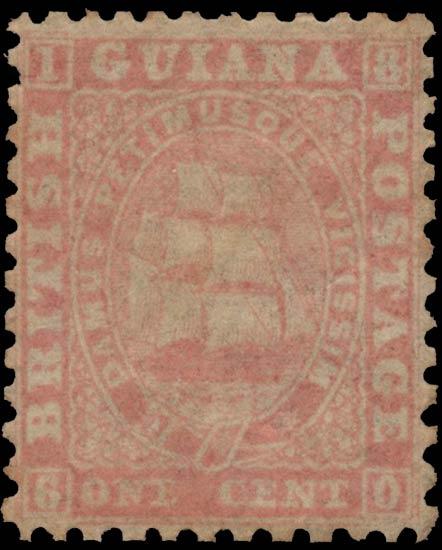 British_Guiana_1860_Ship_1c_Genuine