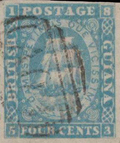 British_Guiana_1860_Ship_4c_Genuine
