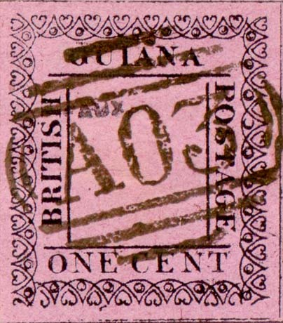British_Guiana_1862_1c_Fournier_Forgery
