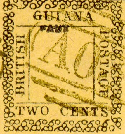 British_Guiana_1862_2c_Fournier_Forgery