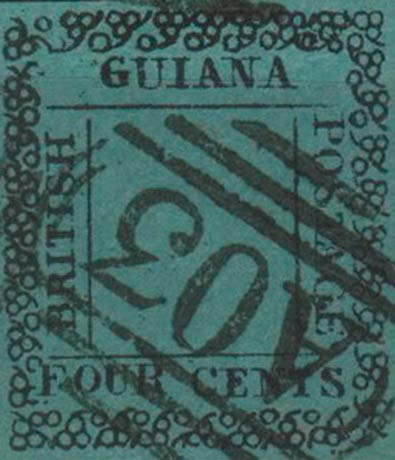 British_Guiana_1862_4c_Fournier_Forgery