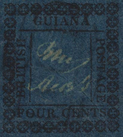 British_Guiana_1862_4cents_Genuine