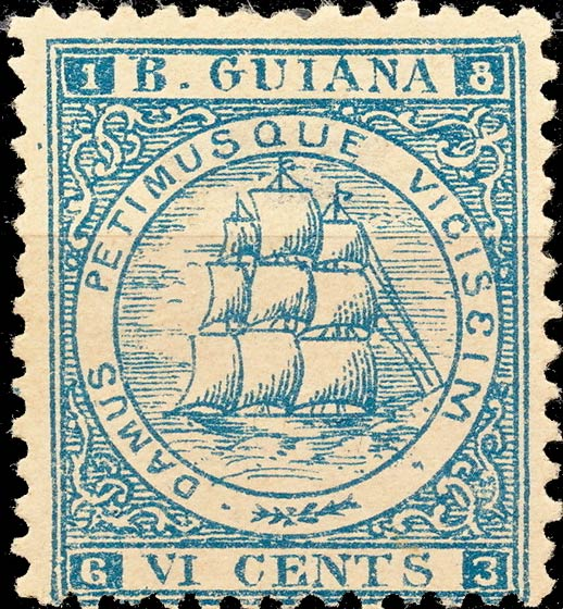 British_Guiana_1863-75_Sandbach_6c_Forgery