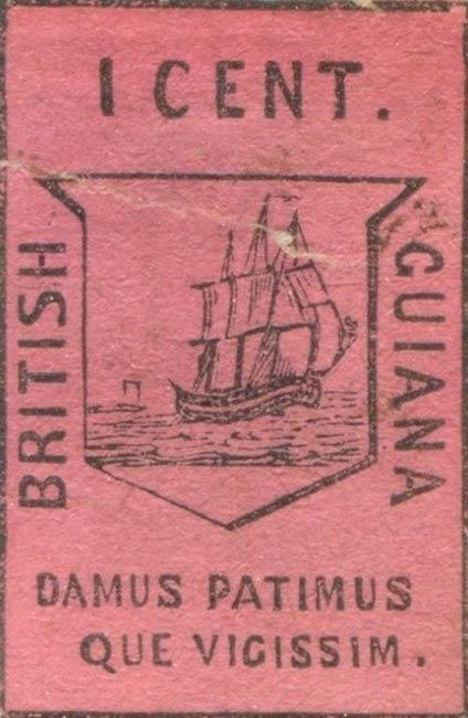 British_Guiana_1952_1c_Forgery