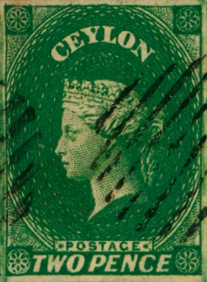 Ceylon_1857_2d_Genuine