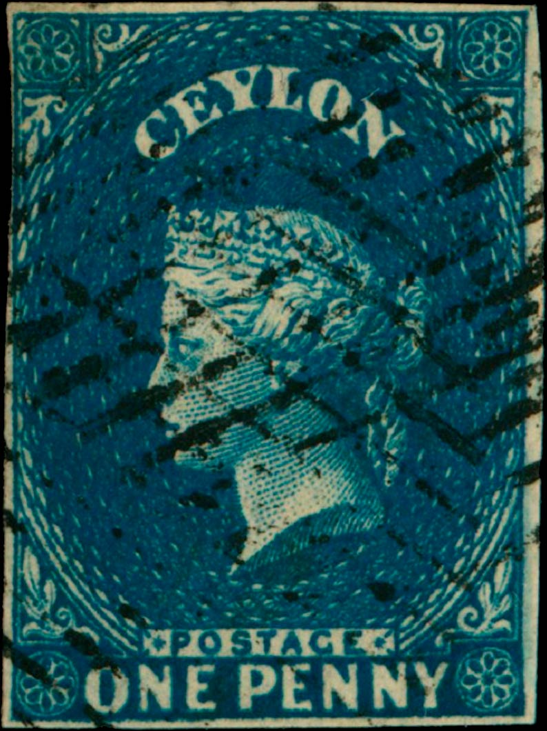Ceylon_1857_QV_1p_Genuine