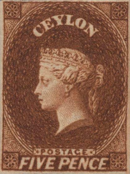 Ceylon_1857_QV_5p_Genuine