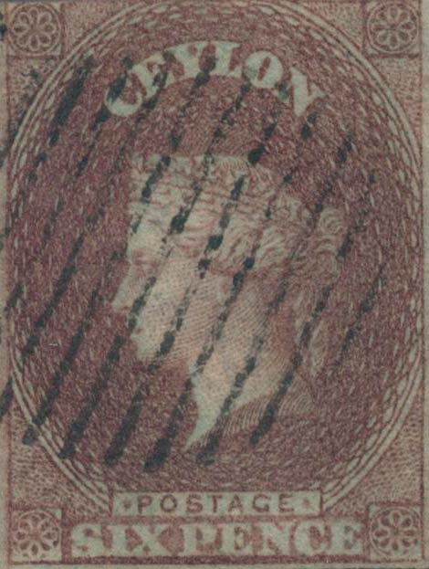Ceylon_1857_QV_6p_Genuine