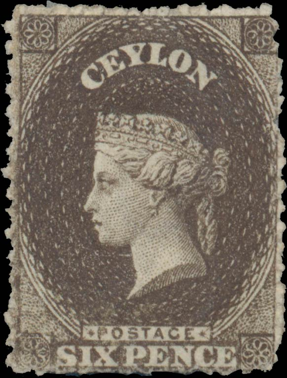 Ceylon_1863_QV_6p_Genuine