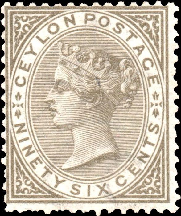 Ceylon_1872_96c_Genuine