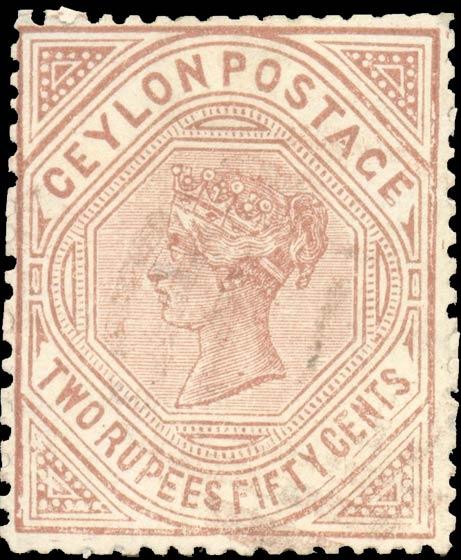 Ceylon_1880_QV_2r50c_Forgery
