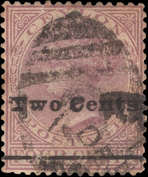 Ceylon_1888_QV_Two_Cents-on-4c-Genuine
