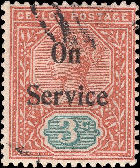 Ceylon_QV_Official_Stamp_3c_Genuine