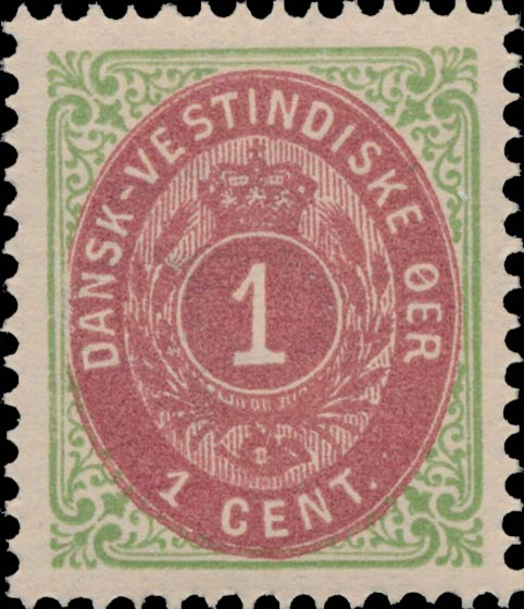 Danish_West_Indies_1873_Bicolored_1c_Genuine