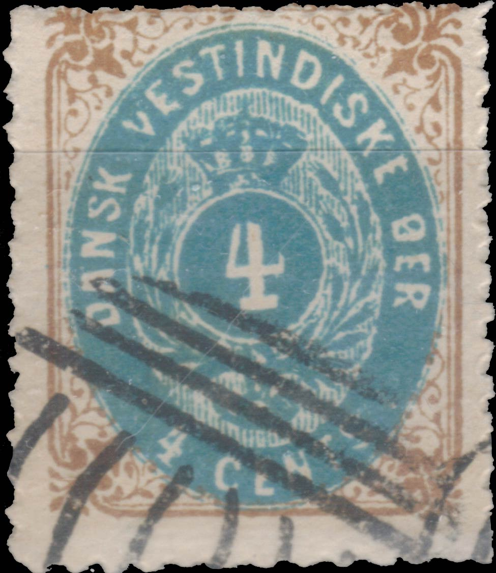 Danish_West_Indies_Bicoloed_4cents_Spiro_Forgery