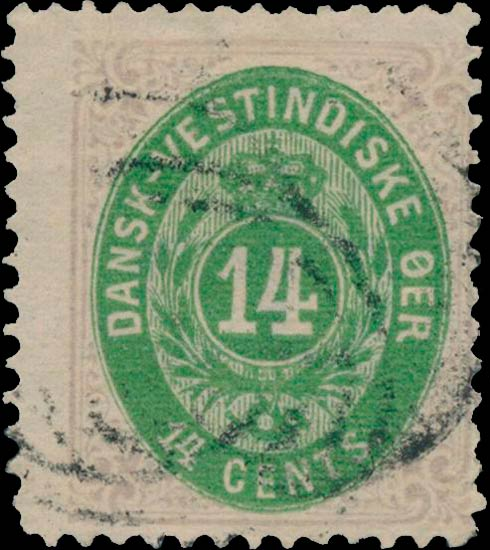 Danish_West_Indies_Bicolored_14ore_Reperforated