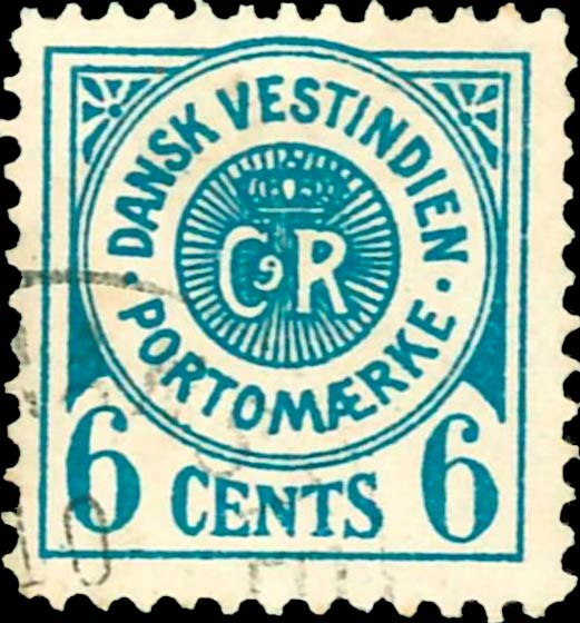 Danish_West_Indies_Postage_Due_6cents_Genuine