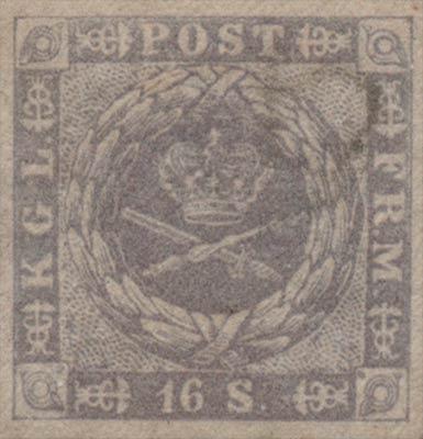 Denmark_1857_16sk_Genuine