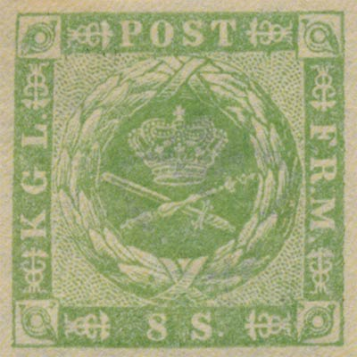 Denmark_1857_8sk_Genuine