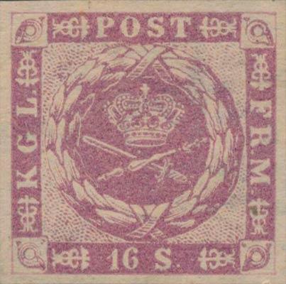 Denmark_1863_16sk_Genuine-unperf