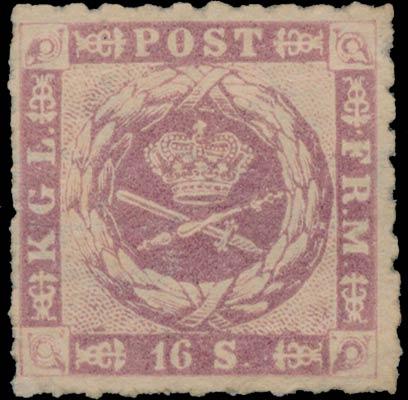Denmark_1863_16sk_Genuine