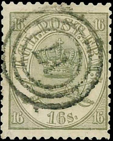 Denmark_1864_16sk_Forged_Perfs