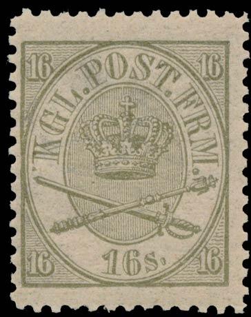 Denmark_1864_16sk_Genuine