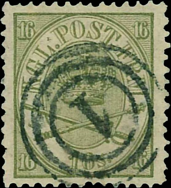 Denmark_1864_16sk_reperforated