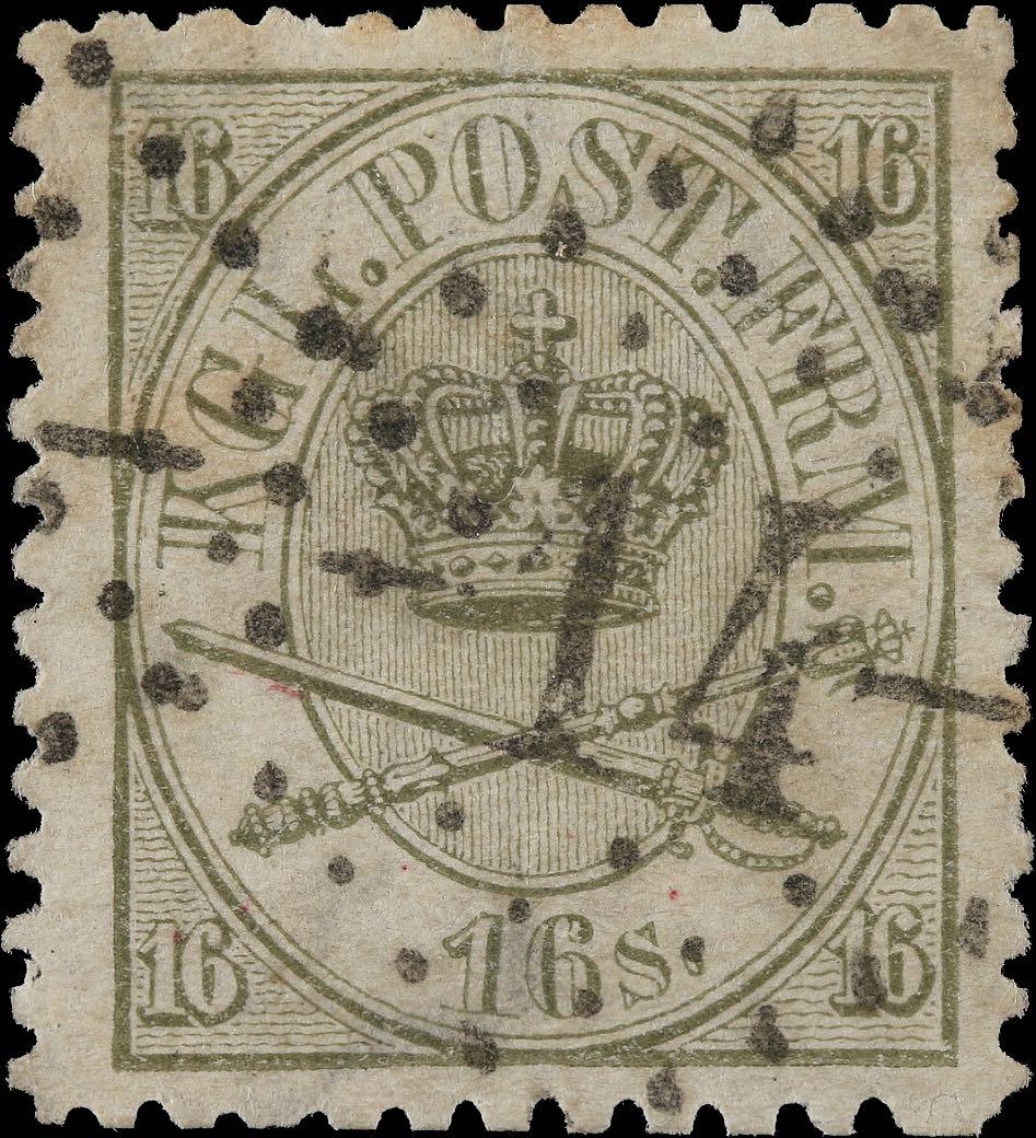 Denmark_1864_16sk_trial_postmark_reperforated