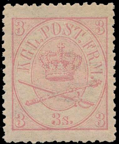 Denmark_1864_3sk_Genuine