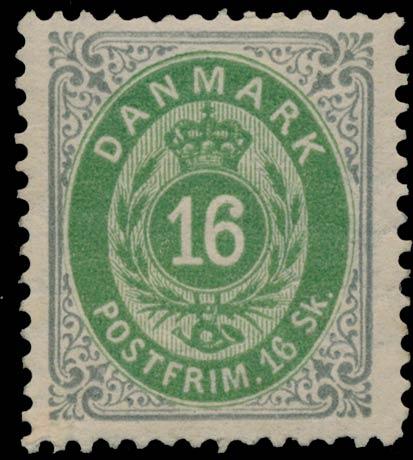 Denmark_1870_16sk_Genuine